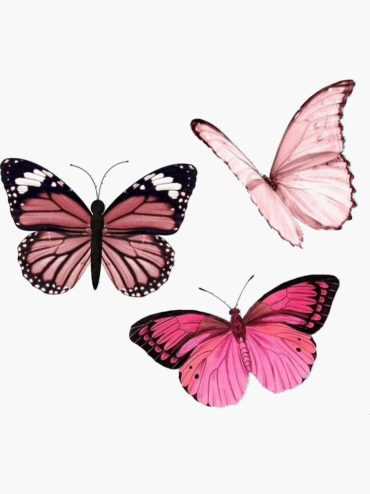 «Autocollants papillon rose * esthétique *» par EmmaGSheehan