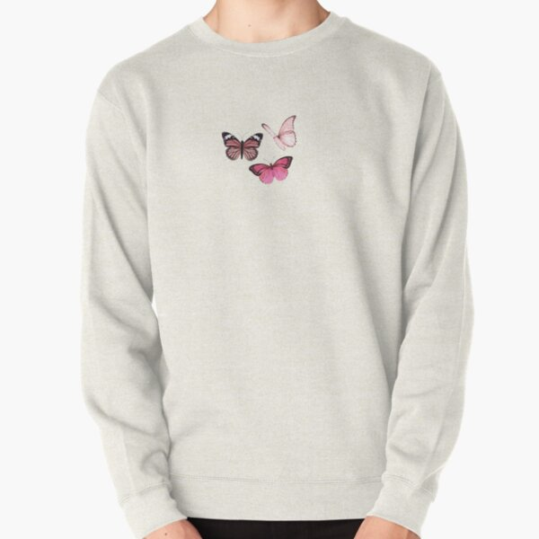 Pink Butterfly stickers *aesthetic* Pullover Sweatshirt