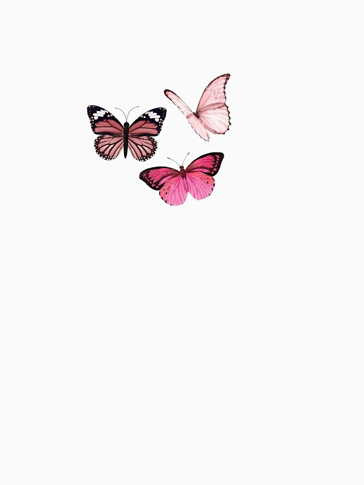 Pink Butterfly stickers *aesthetic* by EmmaGSheehan
