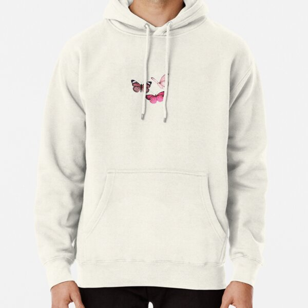 Pink Butterfly Aufkleber * ästhetisch * Hoodie