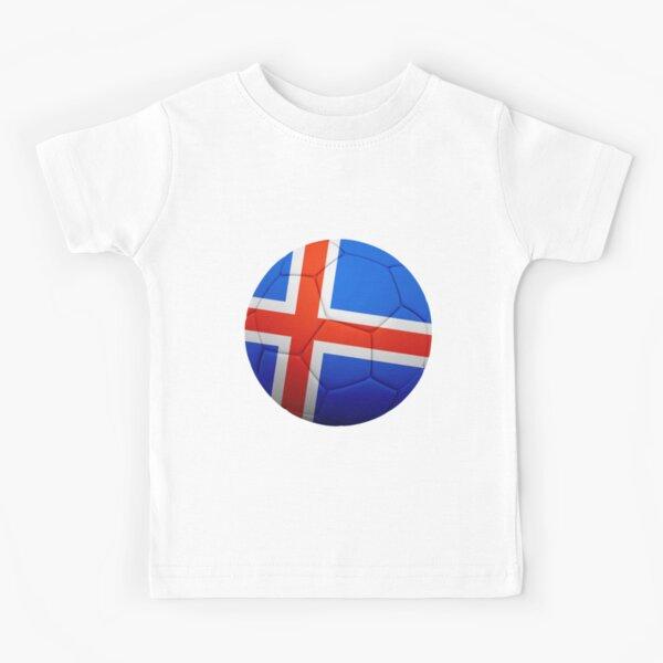 ICELAND INSPIRED POCKET BADGE DISTRESSED LOOK BOYS GIRLS T SHIRT FOOTBALL EURO