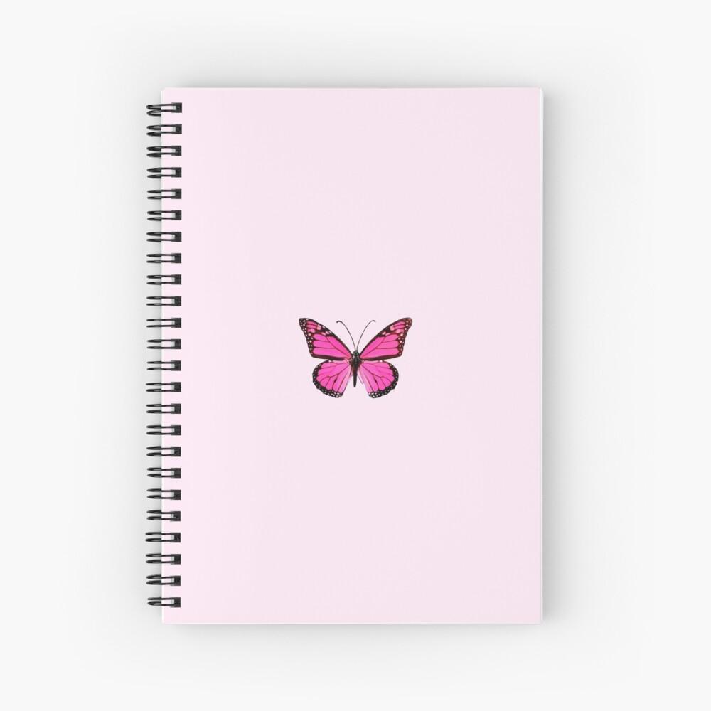 Hot Pink Butterfly  Spiral Notebook