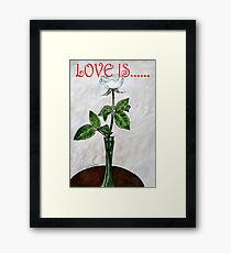 LOVE IS....(19) Framed Print