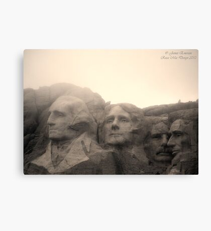 Mount Rushmore in Sepia Canvas Print