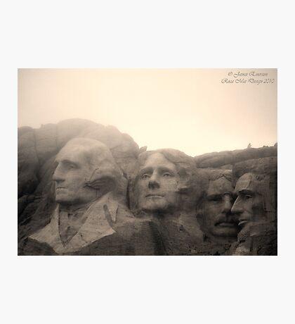 Mount Rushmore in Sepia Photographic Print