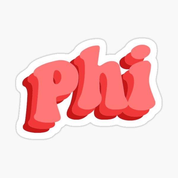 Phi Red Retro Sticker