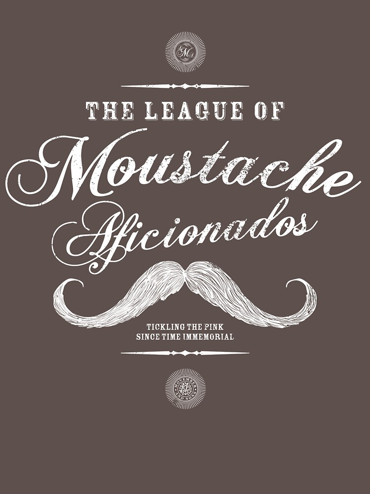 Movember - Moustache Afficionado League white | Unisex T-Shirt