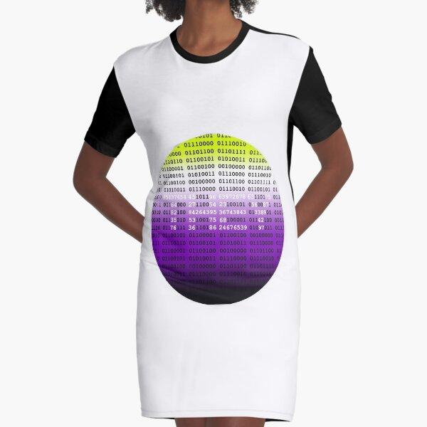 Non-binary-coding (enby flag)  Graphic T-Shirt Dress