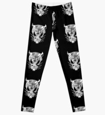 Black ZEF Graffiti Rat Leggings