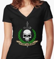 For Tanith - For The Emperor!  Women's Fitted V-Neck T-Shirt
