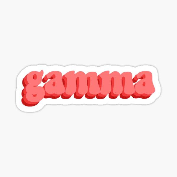 Gamma Red Retro Sticker