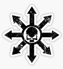 Mark of Chaos Distressed Black Sticker