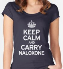 Carry Naloxone Women's Fitted Scoop T-Shirt