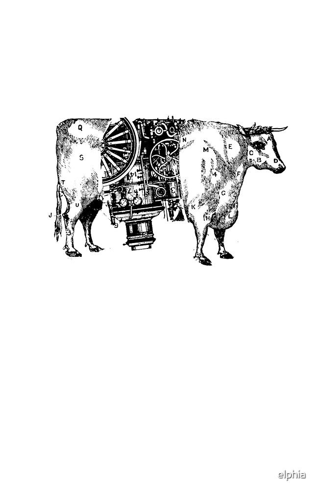 Steam-powered Cow by elphia