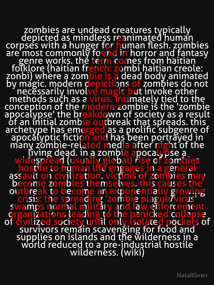 Zombie Hand and word Zombie in Picture'Of'Text style by NataliSven
