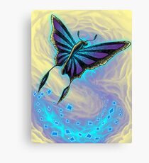 Butterfly with stained glass wings Canvas Print