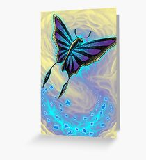 Butterfly with stained glass wings Greeting Card