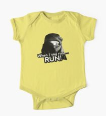 When I say run … RUN! One Piece - Short Sleeve