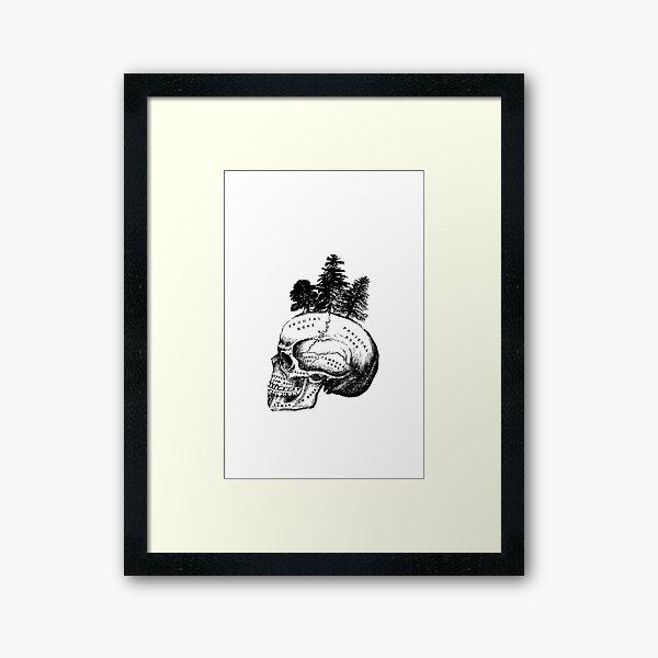 Skull Forest Framed Art Print