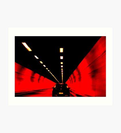 Through an Italian Tunnel Art Print