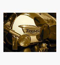 Triumph Bonneville T100: Gas Tank Photographic Print