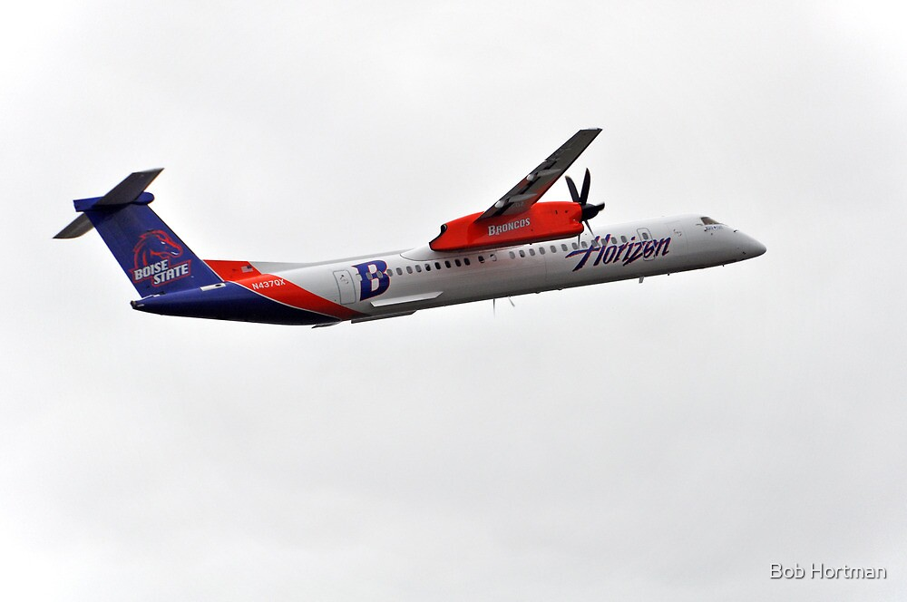 Horizon Airlines Boise State Broncos by Bob Hortman