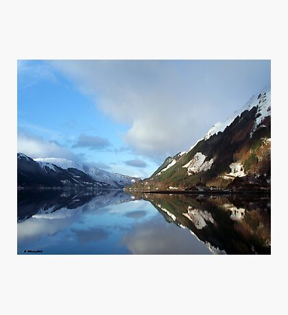 Reflecting on a Scottish Loch Photographic Print