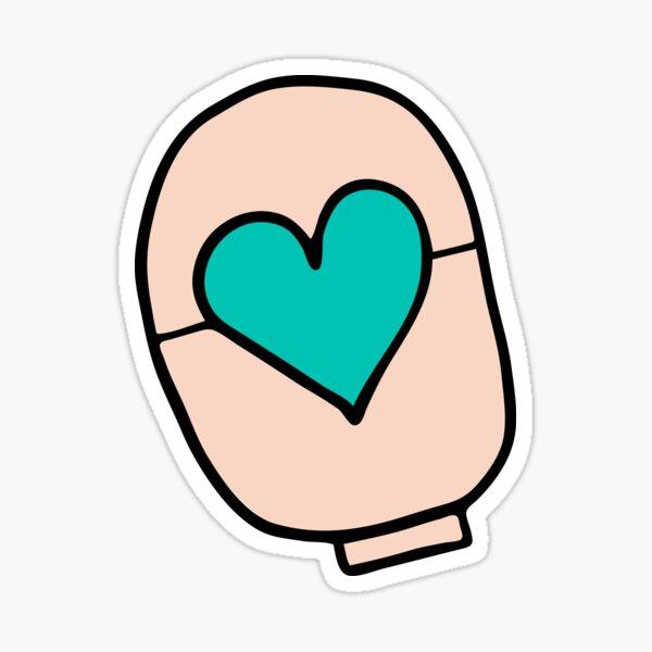 ostomy love – teal Sticker