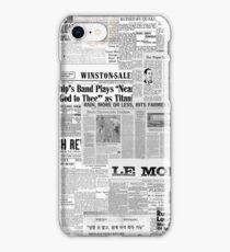 Newsprint iPhone Case/Skin