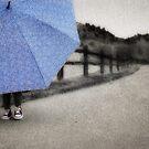 Who doesn't love a blue umbrella... by Elizabeth Weitz
