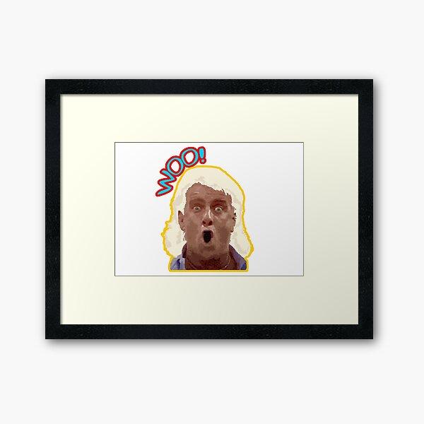 NumbTs- WOO Ric Flair - Legendary wrestling quote old school inspired design Framed Art Print