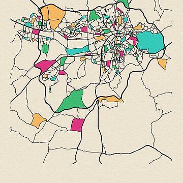 Mapa de calles de Ankara, Turquía de geekmywall