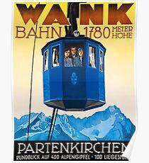 Wank Mountain Bahn, Germany Poster