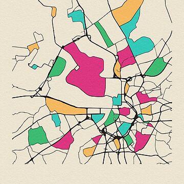 Mapa de calles de Amberes, Bélgica de geekmywall