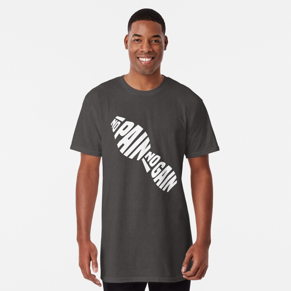 T-shirt long «NO PAIN NO GAIN by Asbeendesign»