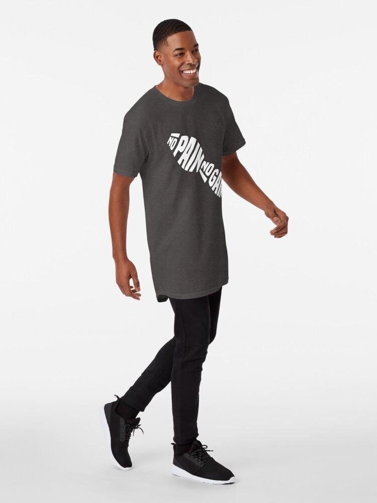 T-shirt long ''NO PAIN NO GAIN': autre vue