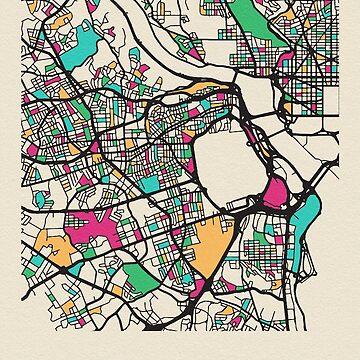 Mapa de la calle Arlington County, Virginia de geekmywall