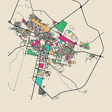 Mapa de la calle Astana, Kazajstán de geekmywall