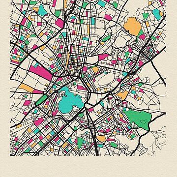 Atenas, Grecia Mapa de calles de geekmywall