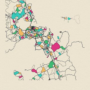 Auckland, Nueva Zelanda Mapa de calles de geekmywall
