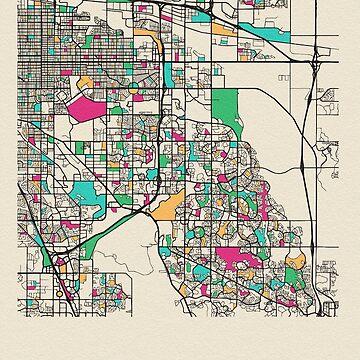 Aurora, Colorado Mapa de calles de geekmywall