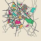 «Bagdad, Iraq Mapa Callejero» de A Deniz Akerman