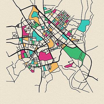 Bagdad, Iraq Mapa Callejero de geekmywall
