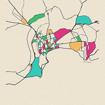 Mapa de Baku, Azerbaiyán de geekmywall