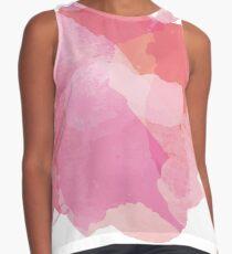 Blusa sin mangas Manchas de pintura abstracta rosa y hermosa