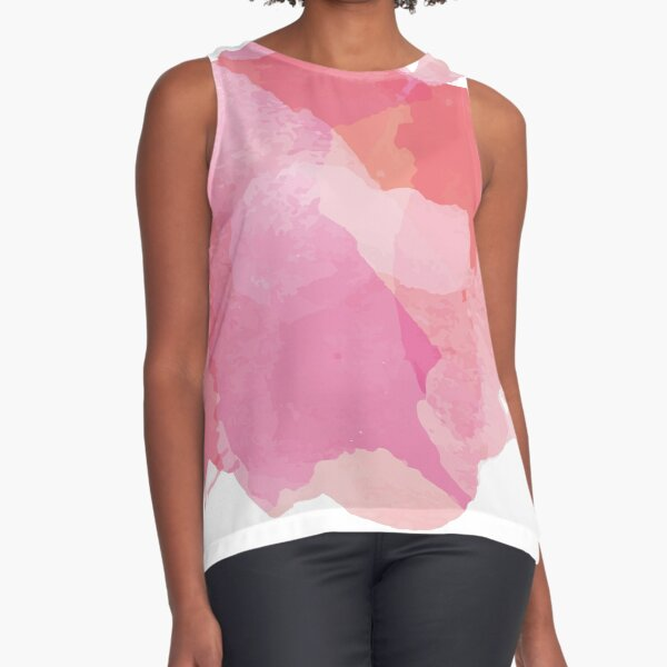 Pink and beautiful abstract Paint Stains Sleeveless Top