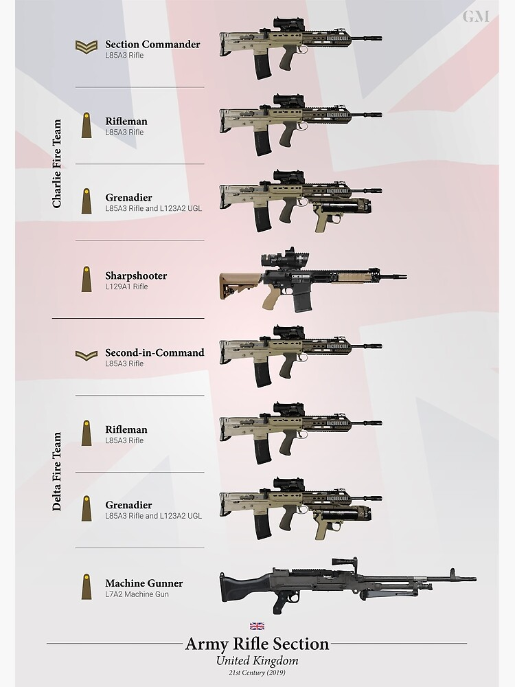 Weapons of the British Army Rifle Section (2019) | Poster