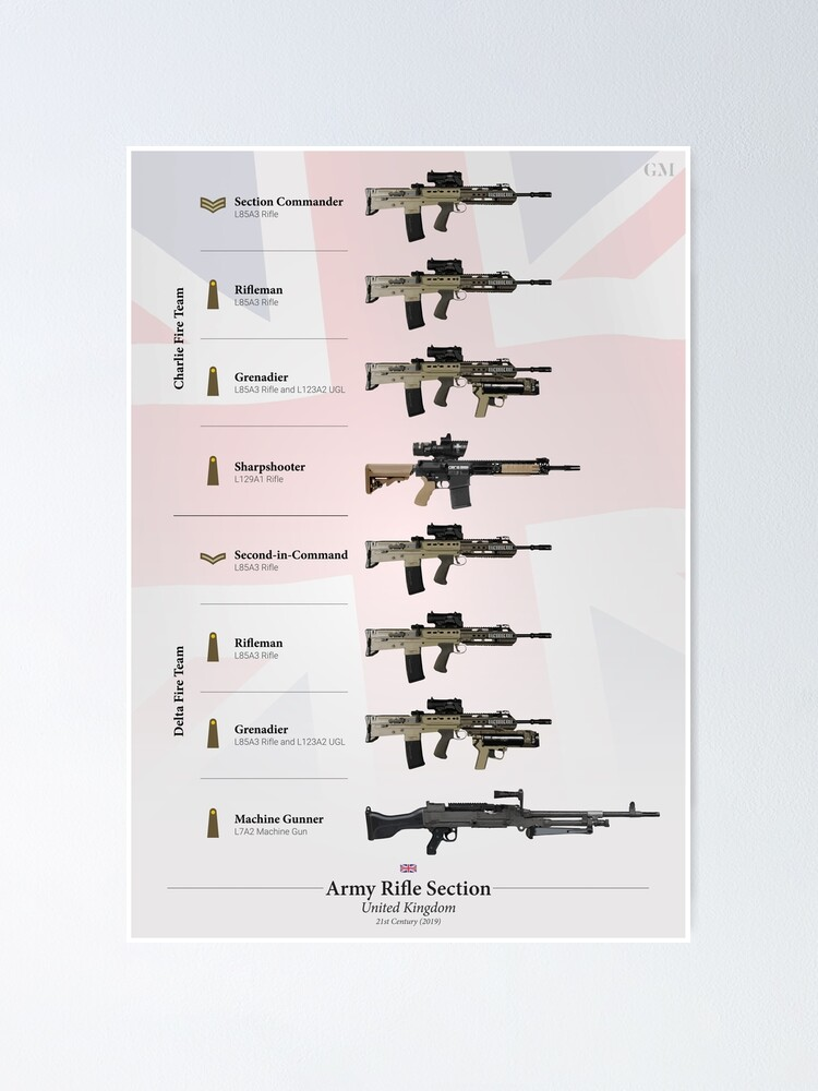 SA 80 Enfield L85A1 Fusil automatique - Automatic rifle . Fposter,small,wall_texture,product,750x1000