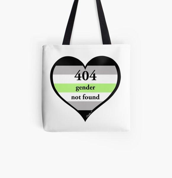 404 Gender Not Found Agender Pride All Over Print Tote Bag