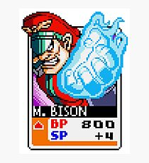 M. Bison - Street Fighter Photographic Print